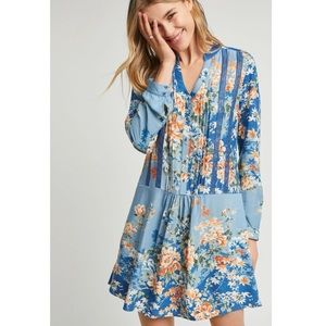 """Anthropologie- """"Tiny"""" Gaina Floral Long Sleeve Printed Dress"""